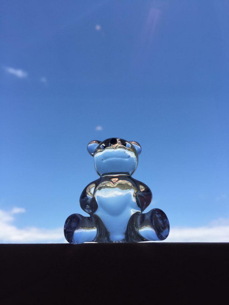 ガラス製ブールベア(ハート)